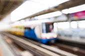 Abstract Blurred Train