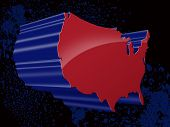 3D Map of United States