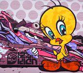 Street art Montreal tweety bird
