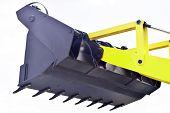 The blade  of the bulldozer