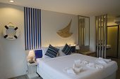 Phuket, TH - Sept, 15 2014:Room's Interior in new hotel The Blue Pearl, Kata Beach, Phuket, Thailand