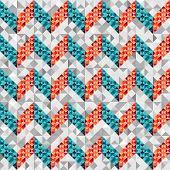 Chevron pattern in geometric style.