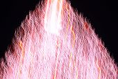 Abstract Christmas Tree In Red Light Motion