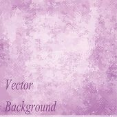 Pink vector grunge background with space for text or image