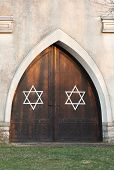 Entrance Door With Stars Of David