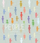 Abstract background with people social network