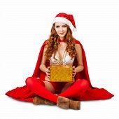 Sexy Christmas Woman Wearing  Bikini