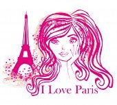 Portrait Of A Beautiful Girl In Paris