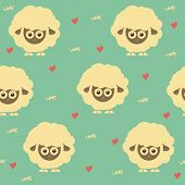 sheep funny seamless pattern