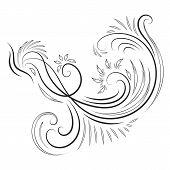 Classical ink swirl ornament