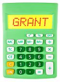 Calculator With Grant On Display