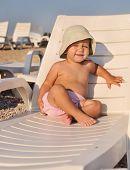 Baby On  Sun Lounger