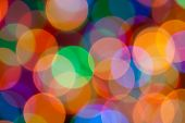 Big Abstract Circular Lights Bokeh  Colour Background