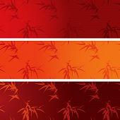 Asian bamboo horizontal banners