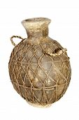 Handmade Traditional African Water Pot With Net Covering