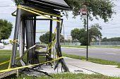 Ônibus destruídos