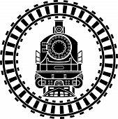pic of steam  - Old steam locomotive railway frame - JPG