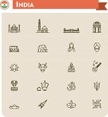 pic of rickshaw  - Set of the India traveling related icons - JPG