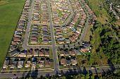 Aerial View Of North American Suburban Neighbourhoods