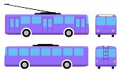 stock photo of motor coach  - Trolleybus  - JPG