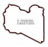 stock photo of libya  - Outline map of the Arab League country of Libya - JPG