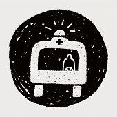 image of ambulance  - Doodle Ambulance - JPG