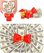 stock photo of greedy  - Greedy hand grabs money isolated on white - JPG