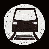 stock photo of tram  - Doodle Tram - JPG