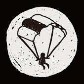 stock photo of parachute  - Doodle Parachute - JPG