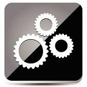 pic of rework  - Eps 10 Vector Illustration of a Sleek Gear Icon - JPG