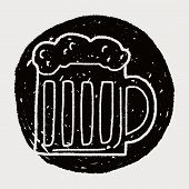 picture of drawing beer  - Doodle Beer - JPG