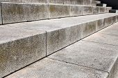 stock photo of stepping stones  - large stone steps close - JPG