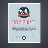 stock photo of certificate  - Best choice certificate for product or service - JPG