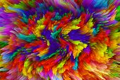 image of paint spray  - Paint swirling clouds - JPG