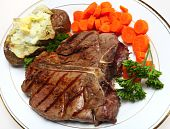 stock photo of t-bone steak  - A porterhouse  - JPG