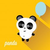 picture of panda bear  - panda bear vector illustration - JPG