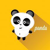 pic of panda bear  - panda bear vector illustration - JPG