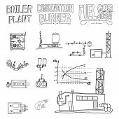 foto of boiler  - Boiler room equipment engineering systems - JPG