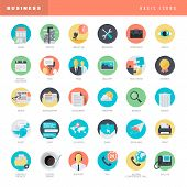 image of universal sign  - Set of universal flat design icons for websites - JPG
