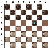 picture of draught-board  - a set of classic checkers game in vectorial - JPG