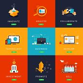 foto of collaboration  - Flat Designed Business Concepts for Innovation - JPG