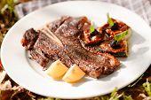 stock photo of flank steak  - grilled steak - JPG