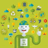 picture of save earth  - Creative concept of Ecology Science - JPG