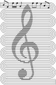 stock photo of clefs  - abstract music background - JPG