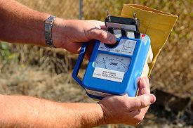 stock photo of ohm  - Testing for ground using an Ohm meter  - JPG