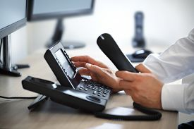 pic of telecommunications equipment  - Dialing telephone keypad concept for communication - JPG