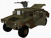 stock photo of humvee  - 3d computer render of an military hummer - JPG
