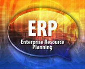 stock photo of enterprise  - word speech bubble illustration of business acronym term ERP Enterprise Resource Planning - JPG