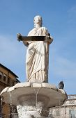 Fountain Of Our Lady Verona , Verona, Italy.