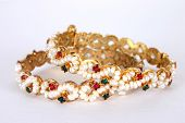 Gold Perle Bangles